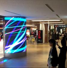 成田空港第一ビル免税店LEDビジョン設置